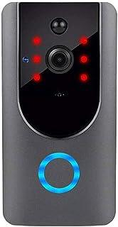 فيديو جرس الباب كاميرا Wi-Fi مع كاشف الحركة، كاميرا أمنية مع حديث ثنائي الاتجاه، زاوية واسعة، رؤية ليلية، إشعار دفع، تخزين...