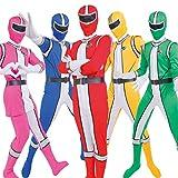 [5人セット]Party City コスプレ コスレンジャー ユニセックス 赤 青 黄 緑 ピンク