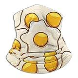 Braga de microfibra para el cuello con diseño de huevo escalfado, bufanda para clima frío, para invierno, deportes al aire libre, pasamontañas, unisex