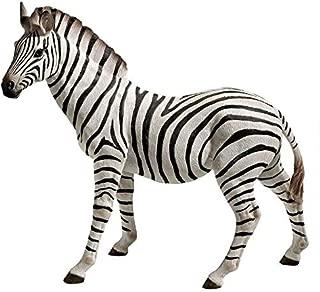 Design Toscano JQ6240 Zora The Zebra Outdoor Garden Statue, 22 Inch, Black & White