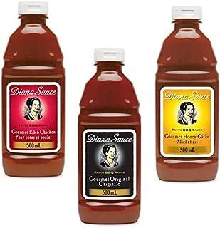 Diana Sauce 3 pack - Original, Honey Garlic, Chicken & Rib {Imported from Canada}