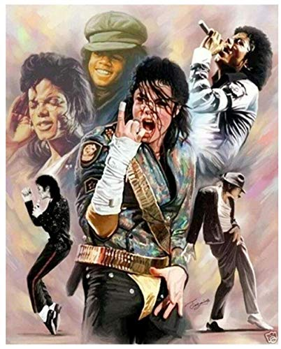 Dybjq Man Diamond Painting Michael Jackson Rhinestone Embroidery Picture icon Mosaic Poster Diamond Art Drawing Wall Stickers Decor 40x50cm