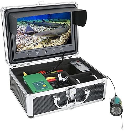WSVULLD Finder de 9 Pulgadas Finder de Pesca bajo el Agua 15PCS Lámpara infrarroja de la cámara 1080p + 15pcs LED Blancos para la Pesca con Hielo, 15m (Size : 15M)