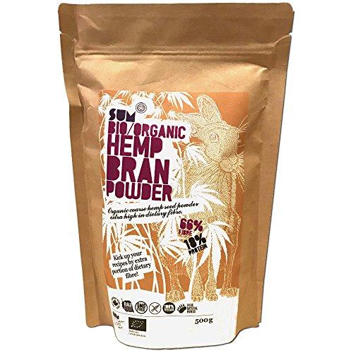 Plant Based Organic Hemp Bran Powder - High Fibre - High Protein - Raw -...