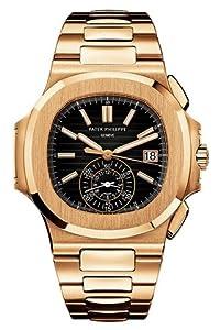 PATEK PHILIPPE NAUTILUS 40MM ROSE GOLD MEN'S WATCH 5980/1R-001 UNWORN image