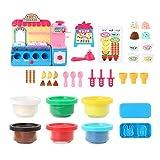 perfecthome Creative 3D Color Mud Ice Cream Shop Machine Molde Juego de Herramientas Niños DIY Juguetes Play House Toys (Caja de Color)