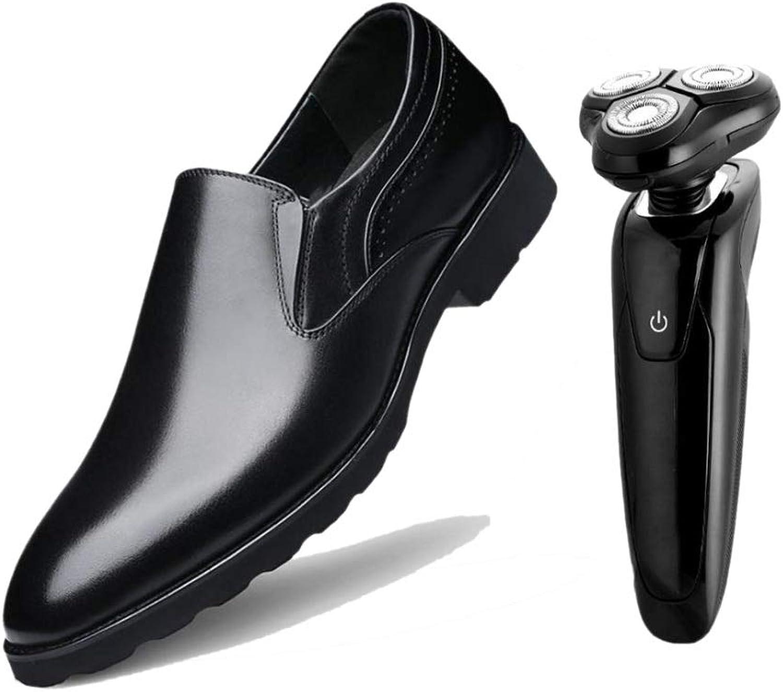 Zmlsc Spitzen Business-Schuhe Für Herren Kein Verschluss Schwarzes Braunes Weiches Leder Quadratwurzel Gentleman England  | Wunderbar
