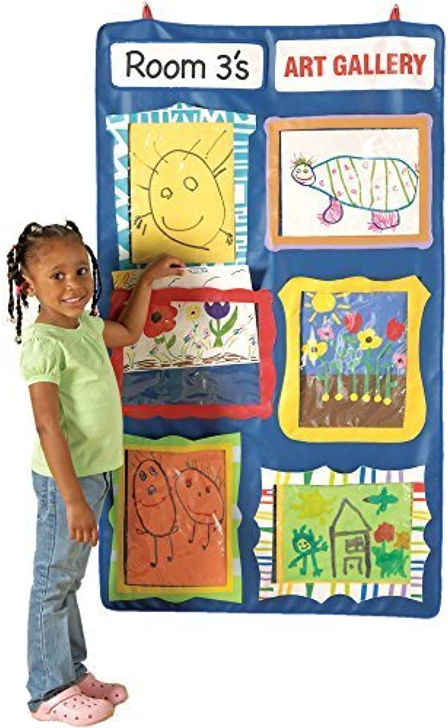 CP Toys Portable 4 ft. Hanging Art Gallery with 6 Picture Slots by Constructive Playthings