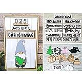 Calendrier de compte à rebours de Noël avec nains de jardin interchangeables, table et unité de bureau, décoration en bois pour bureau, événements, entreprises et cadeaux
