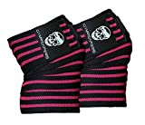 Knee Wraps (Pair) With Strap for Squats, Weightlifting, Powerlifting, Leg Press, and Cross Training...