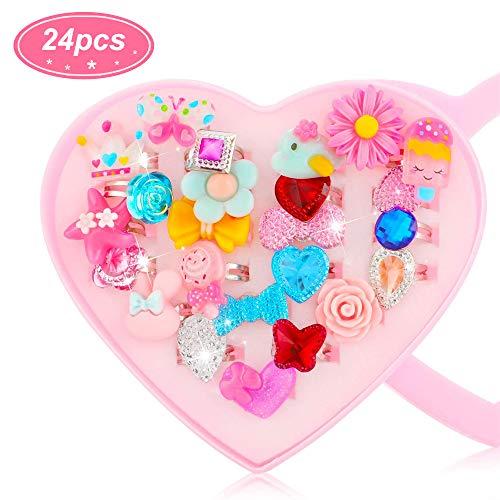 Anillos de Joya para Niña Joyas para Niñas Anillo de Juego para Niños Girls Jewelry Kids Play Rings…