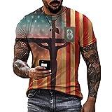 Shirt Hommes Vintage Hip Hop Style Col Rond Manches Courtes Hommes T-Shirt Été Graffiti Mode Impression Hommes Loisirs Shirt Personnalité Design Tendance Cool Hommes Streetwear TTA23-39 L