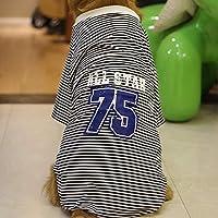 ペットベスト通気性の大きな犬の服春と秋の服のための森の縞模様のシャツのシャツのシャツのジャケットが中身と大きな犬に適しています