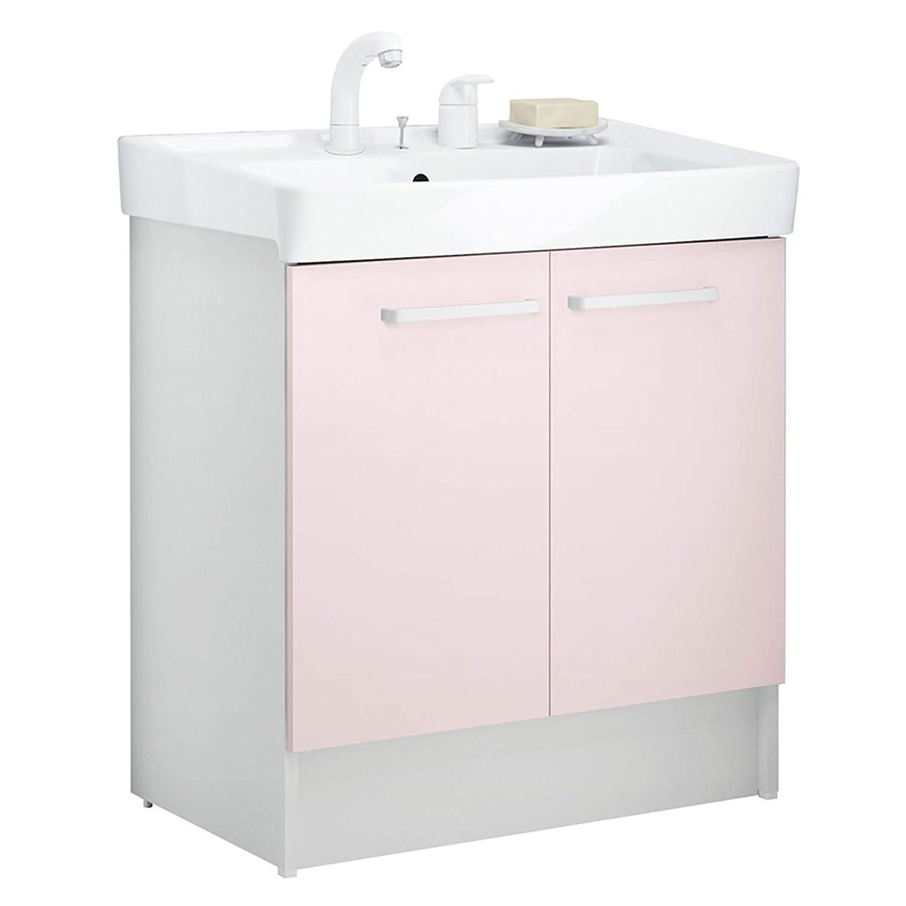 無傷しゃがむ素晴らしきイナックス(INAX) 洗面化粧台 D7シリーズ 幅75cm 両開きタイプ シングルレバー洗髪シャワー水栓 D7N4-755SYN1-W 寒冷地用 パステルピンク(HP2W)