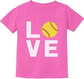 TeeStars - Love Softball - Gift for Softball Fans Cute Toddler Kids T-Shirt