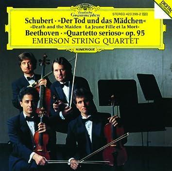 "Schubert: String Quartet ""Death and the Maiden"" D 810 / Beethoven: String Quartet ""Quartetto serioso"" Op.95"