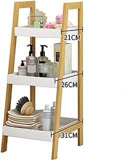 jhsms Estantería de Madera Engrosada, 4 Niveles Estantería Multiusos Estantería Abierta Organizador de Almacenamiento De pie para el hogar o la Oficina -C 30x30x75cm (12x12x30inch)