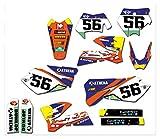 Wjyfexble Etiquetas engomadas de gráficos de Motocicletas Calcomanías para KTM ECC 125 200 250 300 400 450 525 2004 WYJHN (Color : Maroon)