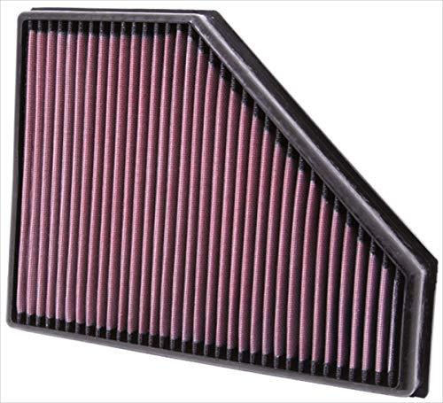K&N 33-2942 Motorluftfilter: Hochleistung, Prämie, Abwaschbar, Ersatzfilter, Erhöhte Leistung, 2005-2015 16d, 18d, 20d, 25d, 316D, 318d, 320D, 325d, 330D, 335d, X1 23d, 116d, 118d, 120d