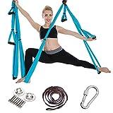 MASII Hamaca De Yoga Aérea Conjunto Completo De Hamaca De Yoga Aérea Suspendida Columpio Cinturón De Yoga para Entrenamiento De Yoga Yoga Deportivo,B