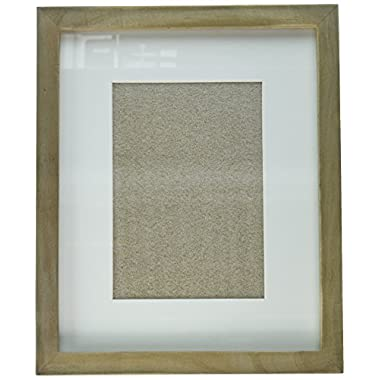 DesignOvation Gallery Picture Frame, 8x10 matted to 5x7, Rustic Brown