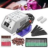 HG Máquina limadora de uñas para manicura y pedicura - Pulidora profesional - Taladro eléctrico para uñas - 20000 RPM - Kit de limas para uñas - Para salón de uso profesional y doméstico.