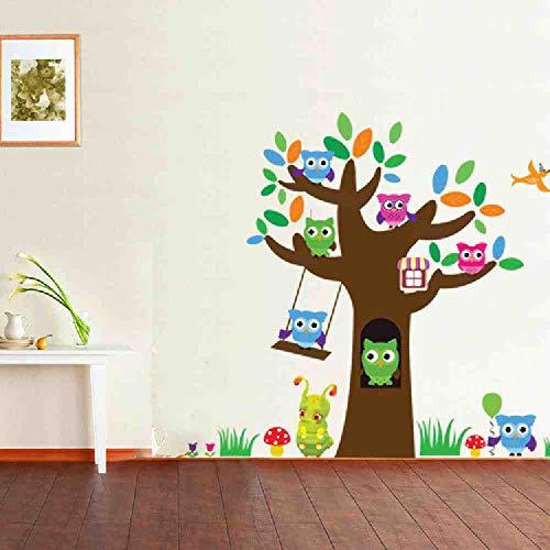 LKNS Muursticker De Nieuwe Cartoon Uil Boom Suiker Schatten Muur Kleuterschool Kinderen Kamer Persoonlijkheid Decoratieve Stickers Kan Verwijder De Stickers