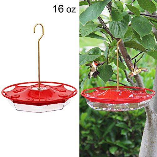 Juegoal 16 oz Hanging Hummingbird Feeder with 8 Feeding Ports