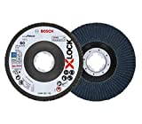 Bosch Professional 260925C116 Disco de láminas X-LOCK, Ø 125 mm, grano K60, diámetro de orificio Ø 22,23 mm, acodado, accesorio de amoladora angular, 60