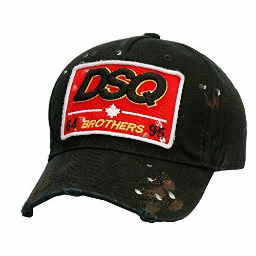 HYP@Baseball Cap/Baseballkappe/Trucker Cap/Trucker Hat/Golf Sport Outdoor Kappe Mütze CapMänner und Damen schreiben Stempel Outdoor Sport, schwarz, verstellbar