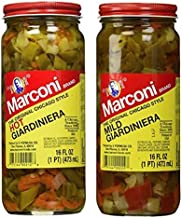 Marconi The Original Chicago Style Hot & Mild Giardiniera 16 oz (Variety Pack)