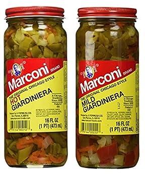 Marconi The Original Chicago Style Hot & Mild Giardiniera 16 oz  Variety Pack