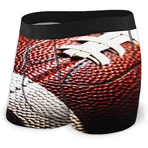 Millancty American Football Texture Boxershorts für Herren Stretch-Unterwäsche No Ride-up Boxer Underwear M
