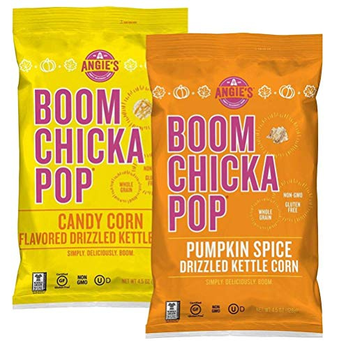 Angie's Boomchickapop Pumpkin Spice and Candy Corn Drizzled Kettle Corn, 4.5 OZ