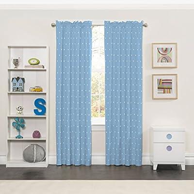 "ECLIPSE Super Star Blackout Window Curtain Panel, 42"" x 63"", Blue"