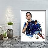 Fußballspieler Moderne Kunst Home Decoration Poster und