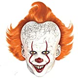 Party City Pennywise Mask Halloween Costume Accessory for Adults, IT Chapter 2, Standard Size