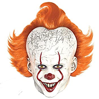 Party City Pennywise Mask Halloween Costume Accessory for Adults IT Chapter 2 Standard Size