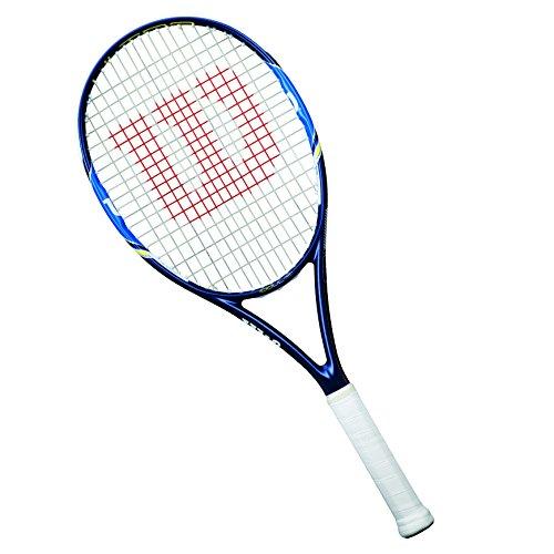 Wilson Tennisschläger Damen/Herren, All Courter, Anfänger und Fortgeschrittene, Ultra 100 UL, Größe 1, Blau/ Weiß