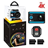 4K Action Camera Wifi - XME Ultra HD Waterproof Sports Camera Underwater DV Camcorder 2' LCD Screen 170 Ultra Wide Angle Lens Recorder 2 Rechargeable Batteries, Outdoor Video Accessories Kits