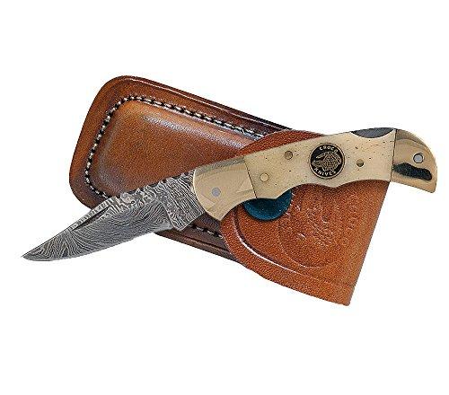 Croco Knives Klappmesser Damascus 9 Klingenlänge 5.3 cm, 12.3 cm, 333507