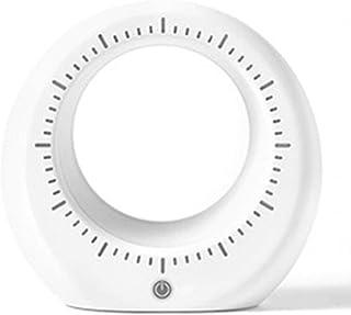 Jwjlchnzi* 創造的な目覚まし時計とLEDナイトライトタッチ機能調光可能なベッドルーム寮のテーブルクロックキッズ学生デスク装飾時計ギフト (Color : White, Size : 12.8cm*4.1cm*13.4cm)