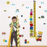 Dibujos Animados Animal Carretilla Elevadora Conductor Medida De Altura Del Niño Etiqueta De La Pared Creativo Árabe Pila Digital Crecimiento Infantil Gráfico De Arriba Regla