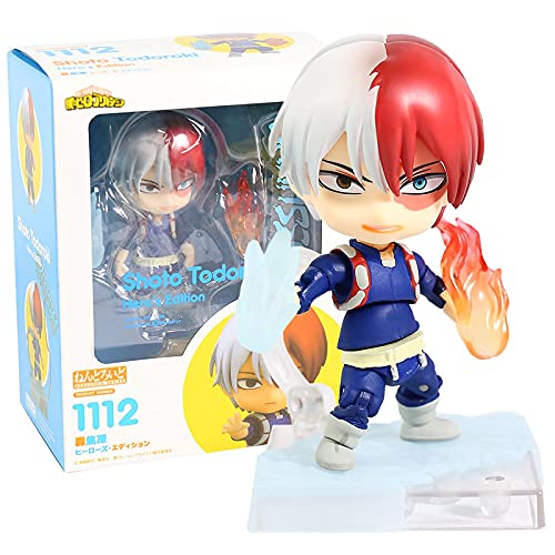 My Hero Academia Todoroki Shoto 1112 Hero's Edition Nendoroid 10Cm PVC Figura De Acción Anime Juguete De Modelos Coleccionables