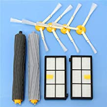 DORLIONA 8pcs Vacuum Cleaner Accessories Kit Filters and Brushes for iRobot Roomba 800 900 Series