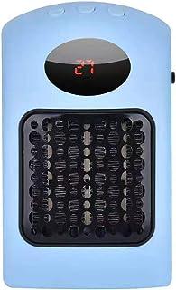 HLTL Calefactor Electrico Pequeño, Calentadores De Aire, Calentador De Cerámica PTC, De Control De Temperatura, El Calentamiento Rápido, De Bajo Ruido, para Oficinas, Dormitorios,Azul