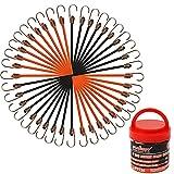 BRIMIX 20 pc Mini pulpos elásticos, 20CM Cuerda elástica con Gancho. Bungee Cords Premium para Bicicleta, Camping, Equipaje, Carrito, etc