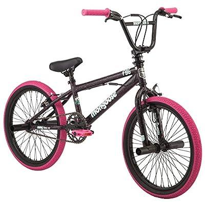 "Mongoose FSG BMX Bike, 20"" Wheels, Single Speed, Black/Pink"