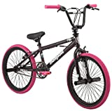 Mongoose FSG BMX Bike, 20' Wheels, Single Speed, Black/Pink