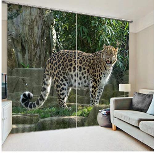 HomeAZWQ 3D Printer Tigers Blackout Window Curtains For Bedding Room Living Room Wall Tapestry Decorative Drapes Cortinas-H245 X W220cm